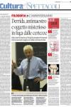 """Derrida antimaestro, """"Il Piccolo"""""""